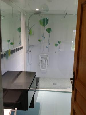 F energies salle de bain - Cabine de douche pour personne a mobilite reduite ...